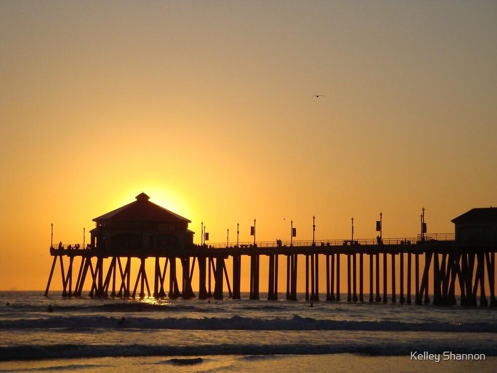 Huntington Beach Pier  by Kelley Shannon