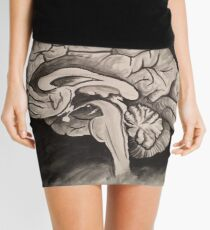 Sagittal (Black and White) Mini Skirt