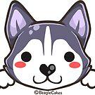 Cute Husky Puppy by beaglecakes
