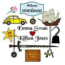 Captain Swan Comic Icons Square Design by Marianne Paluso