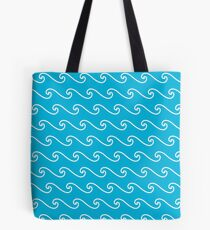 Wave Pattern Illustration Tote Bag