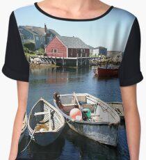 Peggy's Cove, Nova Scotia Women's Chiffon Top