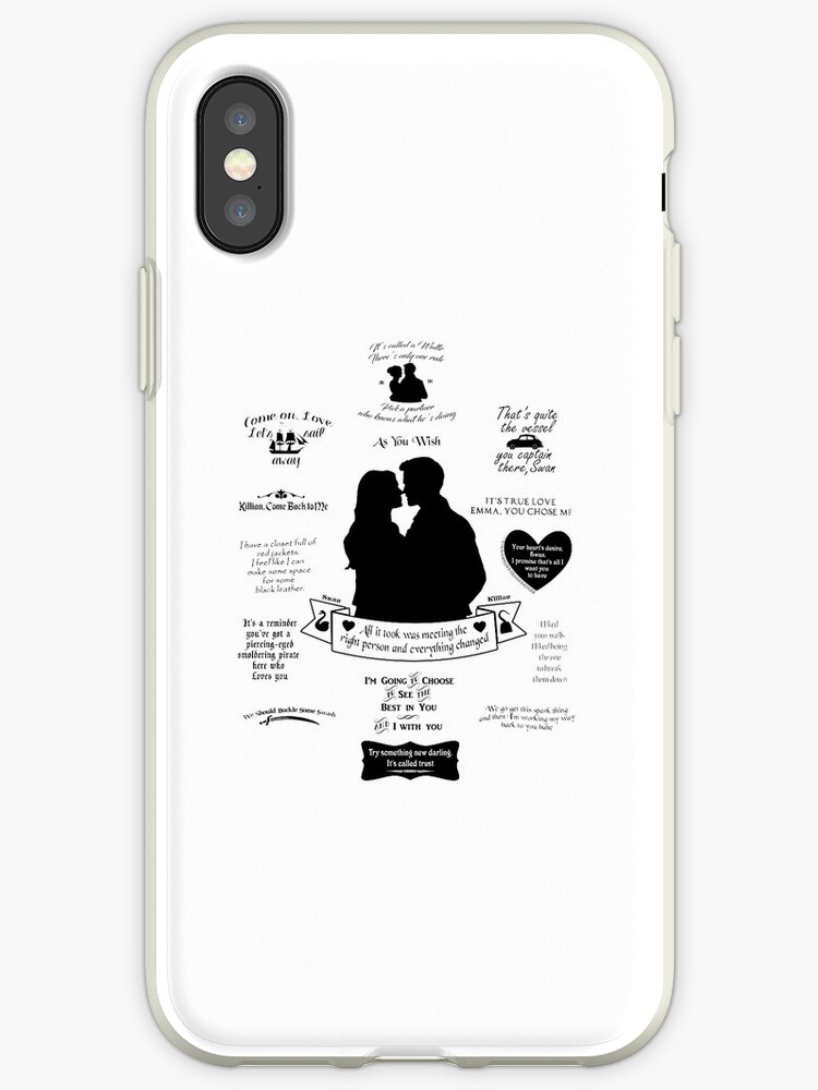 Captain Swan Iconic Quotes Silhouette Design 2 Iphone Case By Marianne Paluso