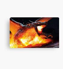 Volcanic Dragon Canvas Print