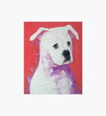 American Bulldog painting Art Board