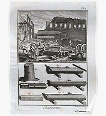 Diderot: 18th Century Engraving - The Carpenter & Sawyer Poster