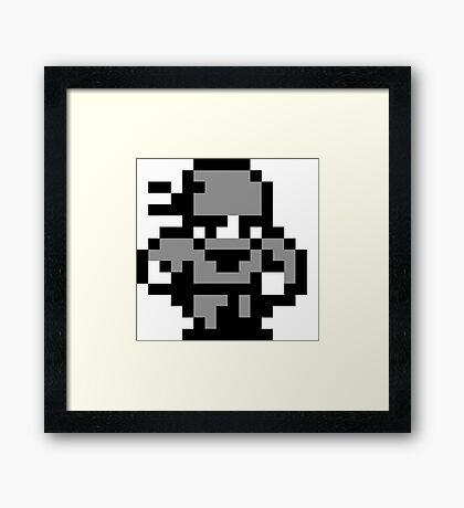 8-Bit Ninja Framed Print