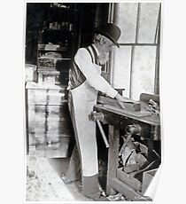 Cabinet Card: 19th Century Cabinet Maker  Poster