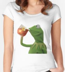 But that's none of my business Women's Fitted Scoop T-Shirt