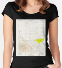 USGS TOPO Map California CA Tupman 301000 1954 24000 geo Women's Fitted Scoop T-Shirt