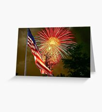 """""""Rumble Over Rough River"""" Greeting Card"""