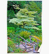 Tree & Walkway, Butchart Gardens, BC Poster