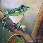 Rainforest call......pastel painting by sandysartstudio