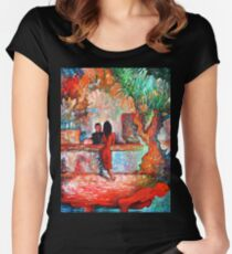 Plein Air Cafe Women's Fitted Scoop T-Shirt