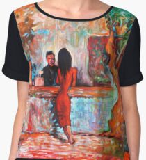 Plein Air Cafe Chiffon Top