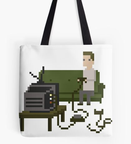 Gamer Pixel Art Tote Bag