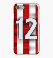 Red and white team iPhone Case/Skin