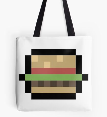 8-Bit Burger Tote Bag