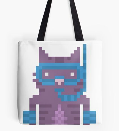 Snorkel Swimmer Cat Pixel Art Tote Bag