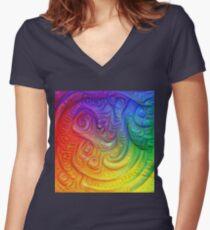 Color Foam #DeepDream Fitted V-Neck T-Shirt