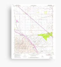 USGS TOPO Map California CA Tupman 102072 1954 24000 geo Canvas Print