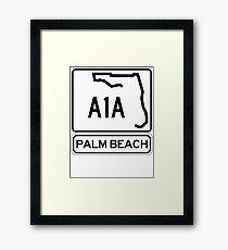 A1A - Palm Beach Framed Print