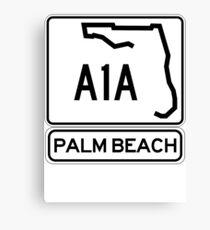 A1A - Palm Beach Canvas Print