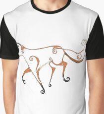 Swirl Fox - coloured Graphic T-Shirt