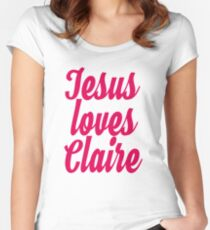 Jesus loves Claire Women's Fitted Scoop T-Shirt