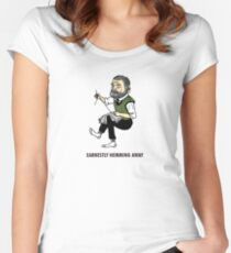 """""""Earnestly Hemming Away"""" Women's Fitted Scoop T-Shirt"""