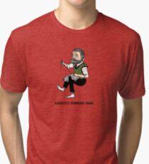 """Earnestly Hemming Away"" Tri-blend T-Shirt"
