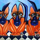 Shepherd Trio by Alma Lee