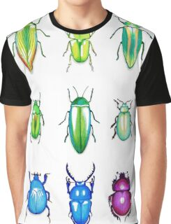 Metallic Beetles Graphic T-Shirt