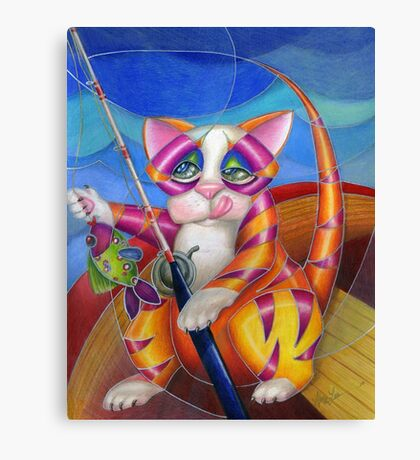 Kitty Row Your Boat Canvas Print