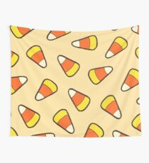 Candy Corn Pattern Wall Tapestry