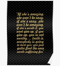 "If she's amazing... ""Bob Marley"" Inspirational Quote Poster"