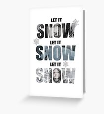 Let it Snow - Jon Snow & Ghost Greeting Card