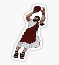 Jumpshot Jesus T shirt Sticker