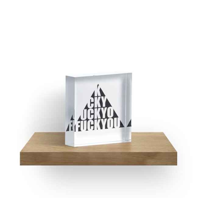 Pyramid Triangle Hipster Text Pattern Symbol Fuck You Off Logo