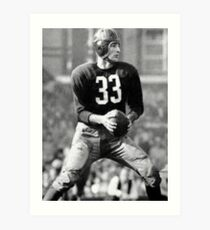 Sammy Baugh Art Print