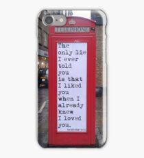 Lie (poetry) iPhone Case/Skin