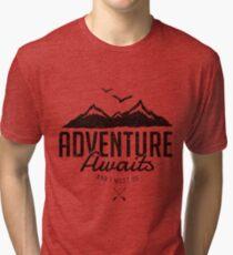 ADVENTURE AWAITS Tri-blend T-Shirt
