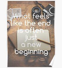 Motivational - New Beginning Poster