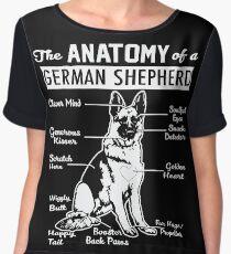 The Anatomy Of A German Shepherd Shirt Chiffon Top