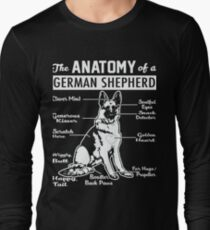 The Anatomy Of A German Shepherd Shirt Long Sleeve T-Shirt