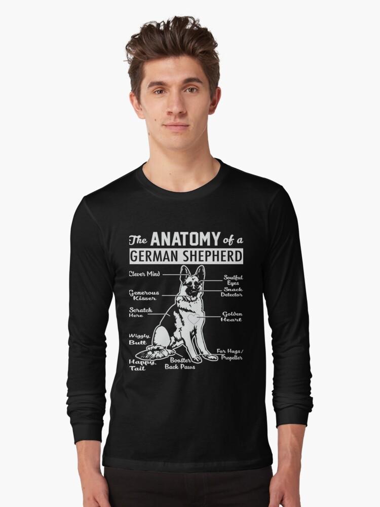 Camisetas de manga larga «La anatomía de una camisa de pastor alemán ...