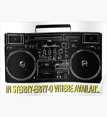In Sterry-erry-o Where Available! Poster