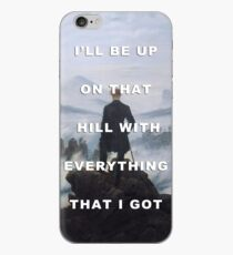 Wanderer above the Darkness on the Edge of Town iPhone Case