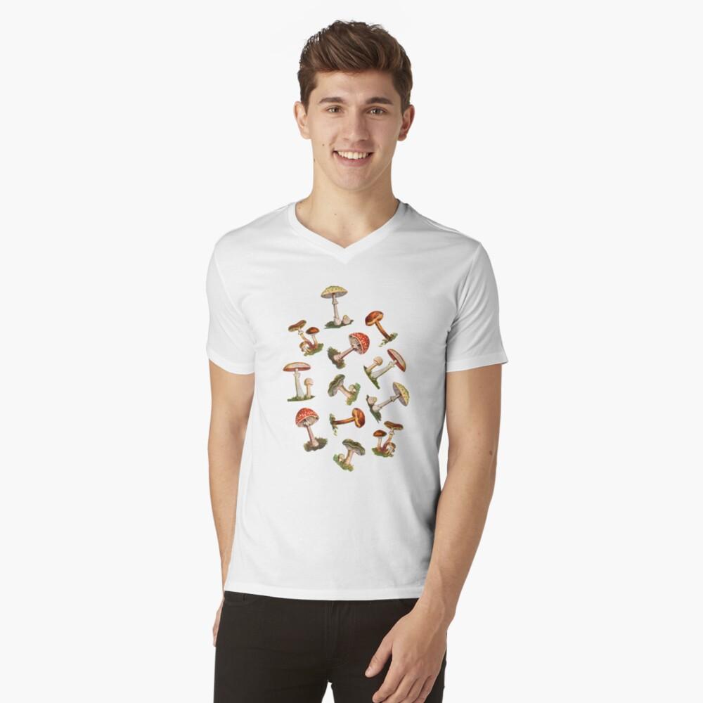 Hongos Camiseta de cuello en V