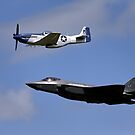 US Air Force Heritage Flight by Andrew Harker